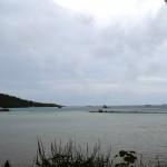 Au loin les fermes perlières de l'autre côté de l'île